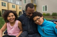 After sleeping in their car for several months, the Edwards family enjoys peace and community in an affordable housing project. I'm lucky to be able to call this family my close friends after initially meeting them through work at JOIN and connecting them to housing resources years ago. March 2016.